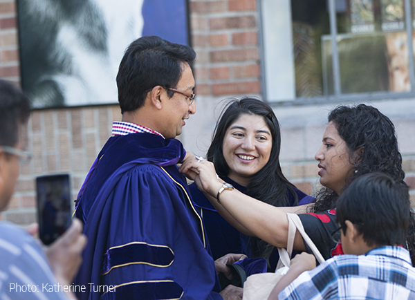 2015 PhD Graduates Biraj Karmacharya and Archana Shrestha at SPH Commencement