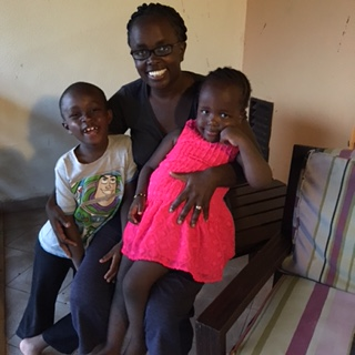 Njuguna with her children
