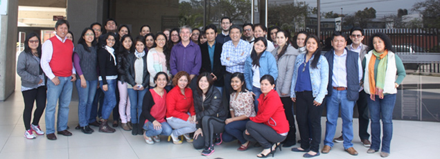 Peruvian public health students pose with Dr. Stephen Hawes after week-long workshop in Lima.