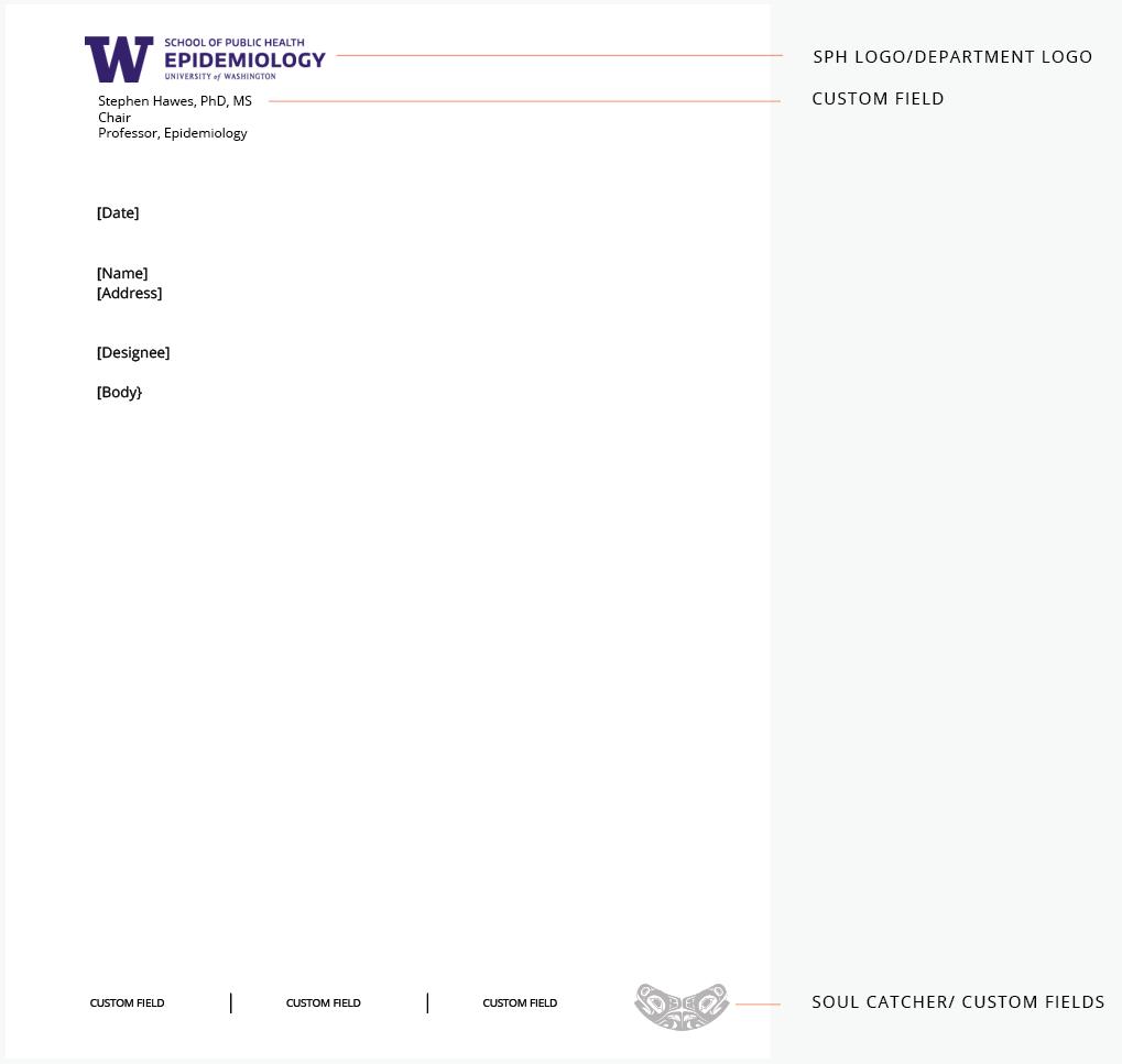 UW Epidemiology letterhead