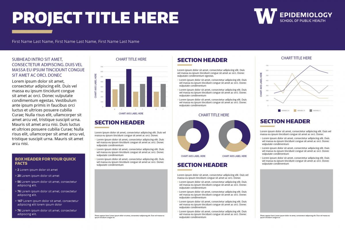 horizontal research poster template