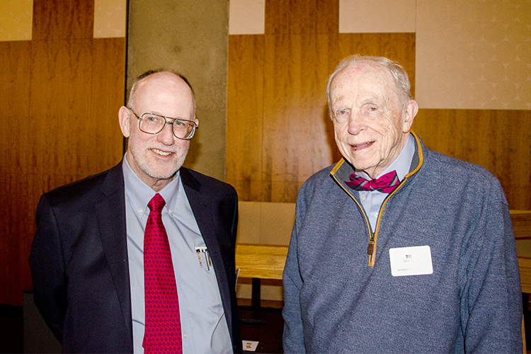 Bruce Psaty and Tom Grayston at the Distinguished Alumni event in 2019