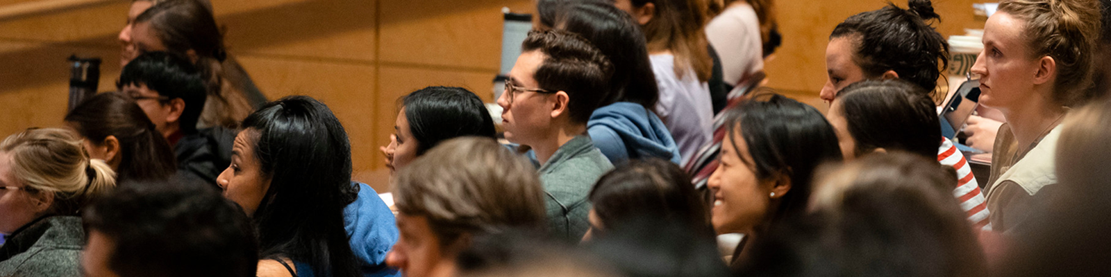 University of Washington School of Public Health students sitting in a lecture hall.